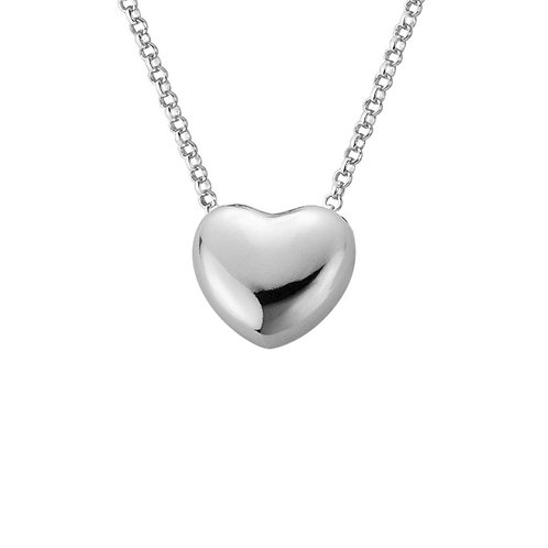 Floating Puff Heart Necklace
