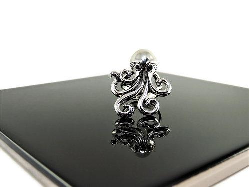 Medium Sterling Silver Octopus Ring