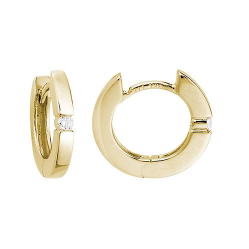 Hinged Diamond Hoop Earrings