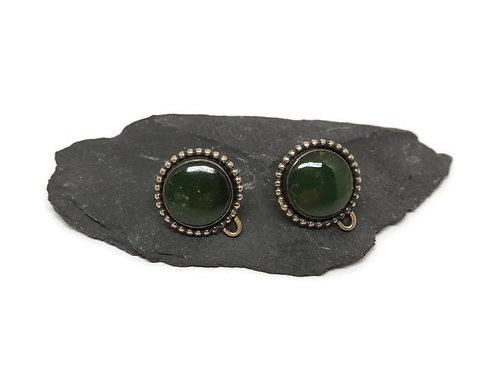 Jade Post Earrings