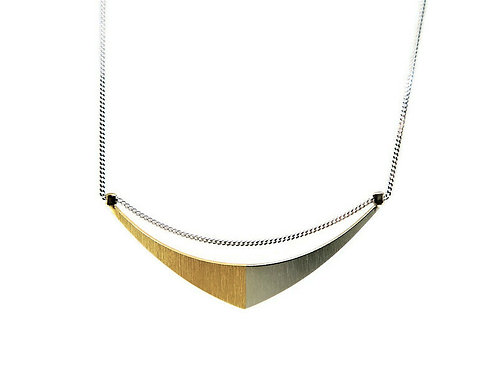 Two Tone Sail Necklace by Mysterium