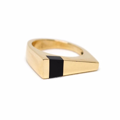 Black Jade Wedge Ring by Dwaine Ferguson