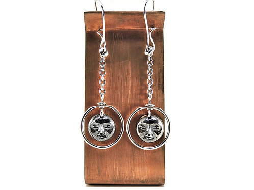 Sterling Silver Madonna Earrings by Knots & Bends