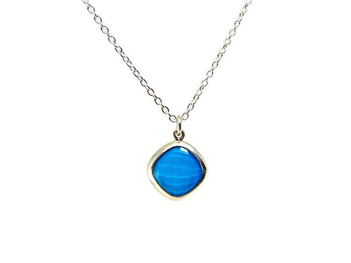 Cushion Cut Turquoise Necklace by Stephen Estelle