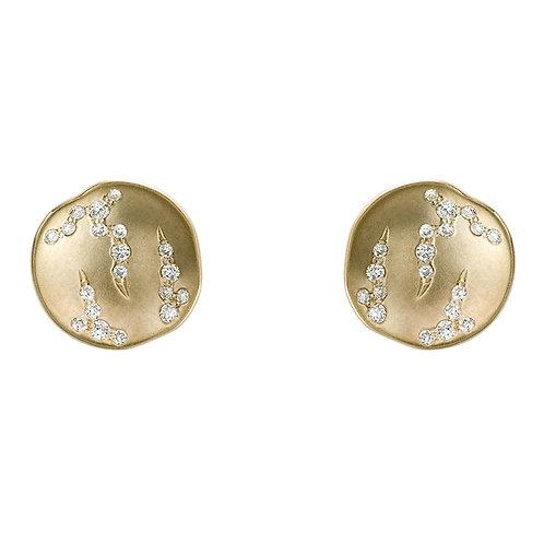 Luna Concave Disc Earrings