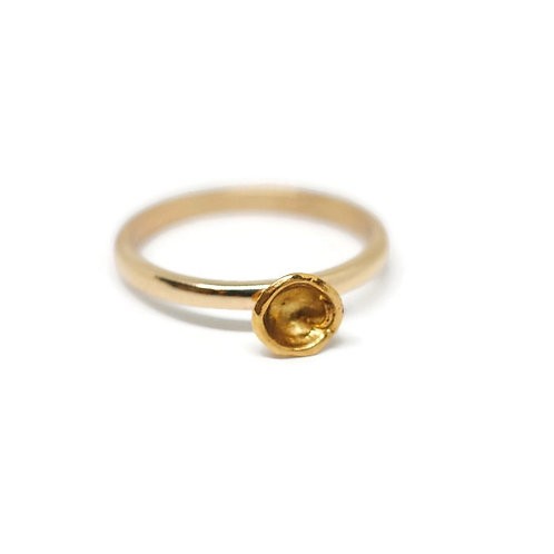 Organic Water Cast Ring with Recycled Gold by Dwaine Ferguson