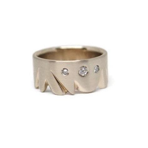 Men's Jagged Edge Diamond Ring