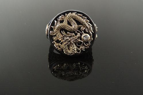 Gold Dragon Diamond Ring