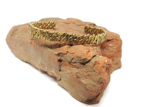 Brass Helix Cuff by Davis Hatcher