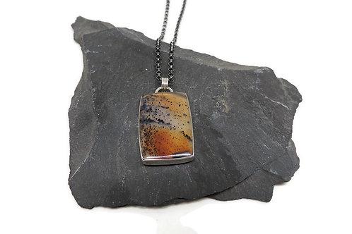 Montana Agate Sterling Silver Pendant by Linda Blumel