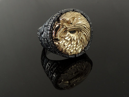 The Bricks of Life Sterling Silver and Gold Ring