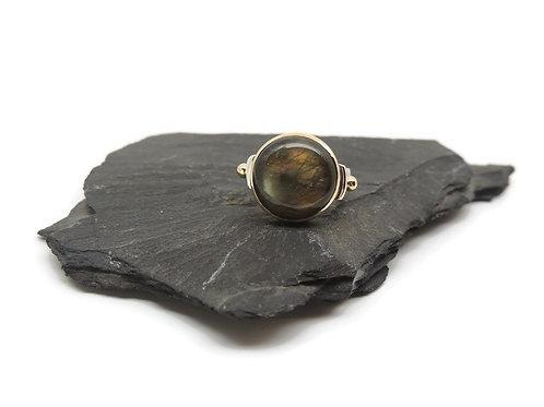 Lavender Labradorite Ring by Linda Blumel