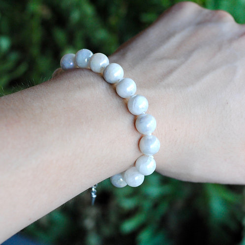 Plated Moonstone Knotted Bracelet