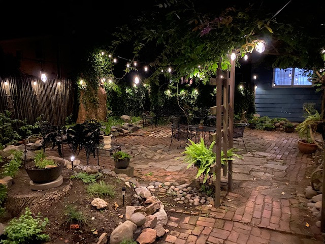 The Daniels House Back Garden At Night.j