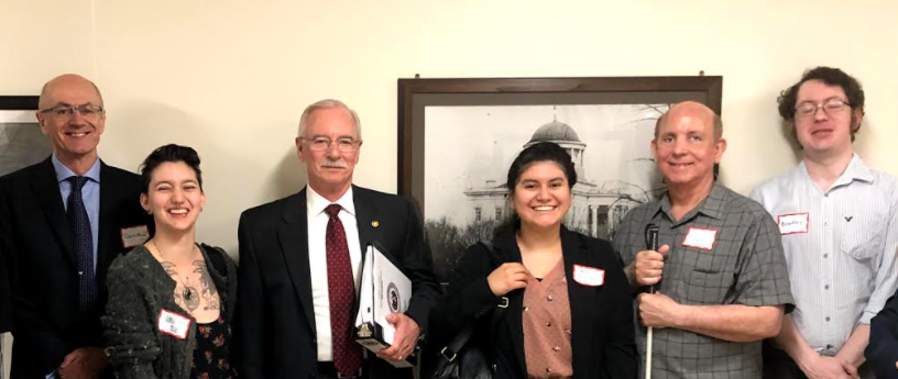 Lobby Day with Joplin constituents and Representative Lane Roberts.