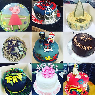 Selection of recent celebration cakes #t