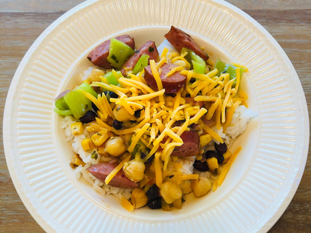 Leftover-Assembled Rice and Beans