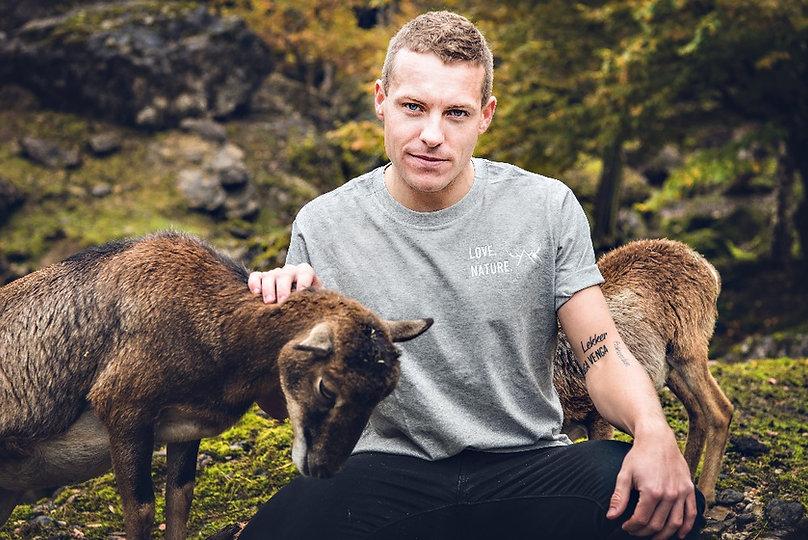 Modelshooting, Shirt LOVE. NATURE. Tierpark