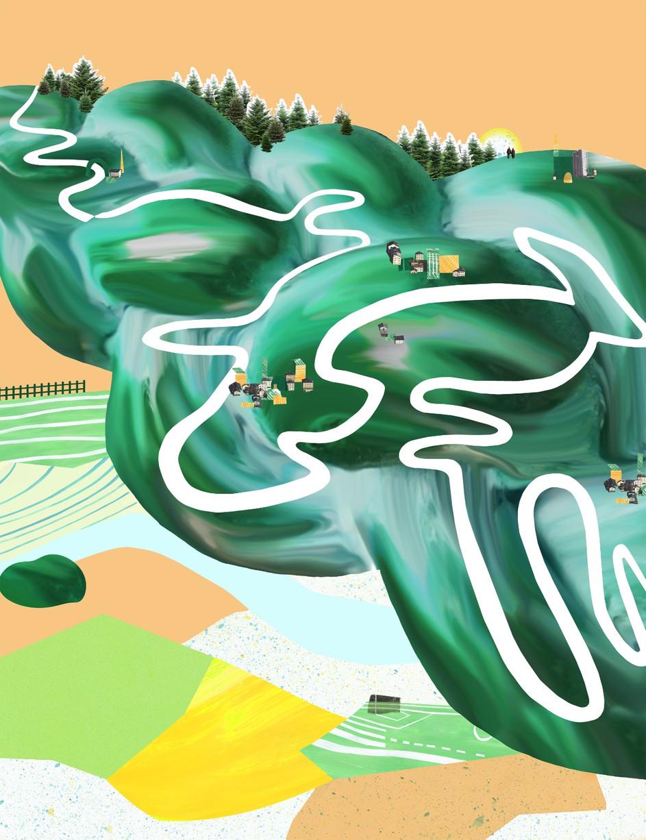 Die Schweiz auf einer Collage