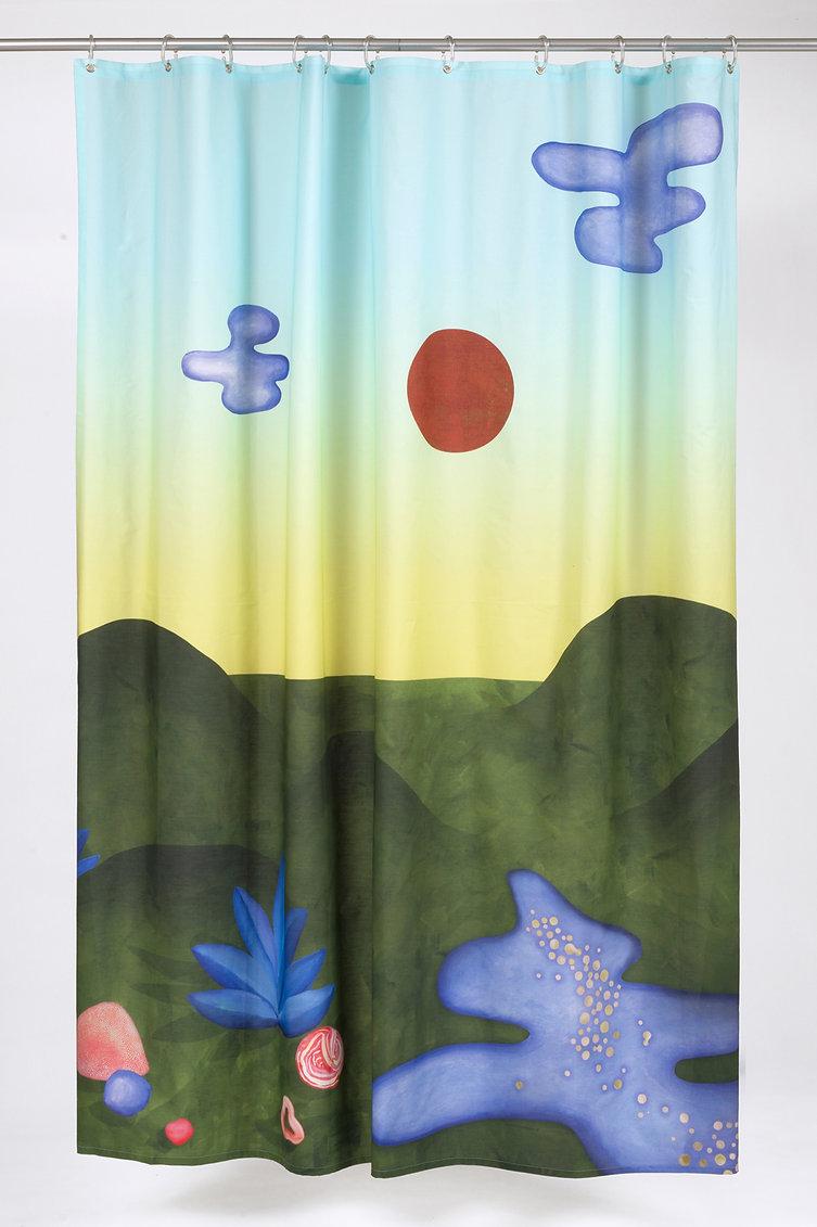 Duschvorhang aus biologischer Baumwolle