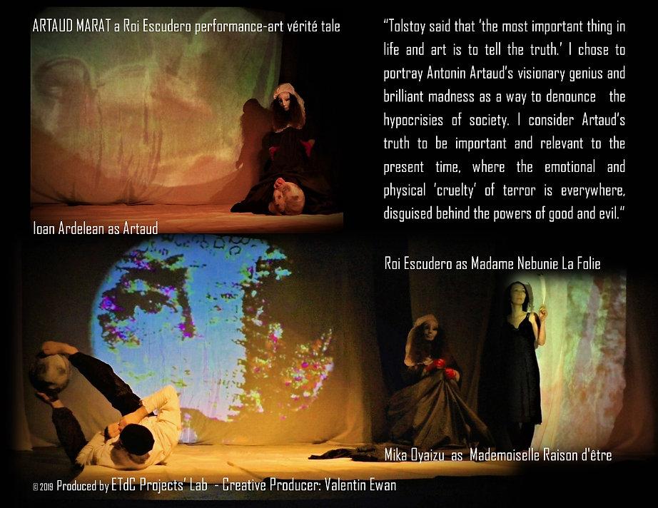 ARTAUD MARAT a Roi Escudero performance-