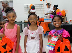 Girls in Costumes for Boo's for Books
