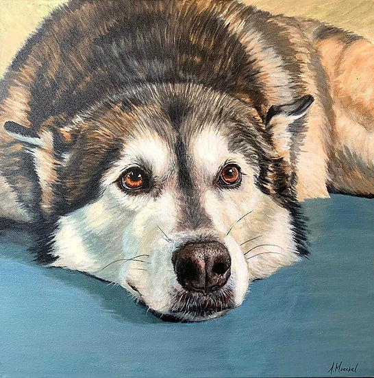 TRADITIONAL, Custom Acrylic Pet Painting on Canvas
