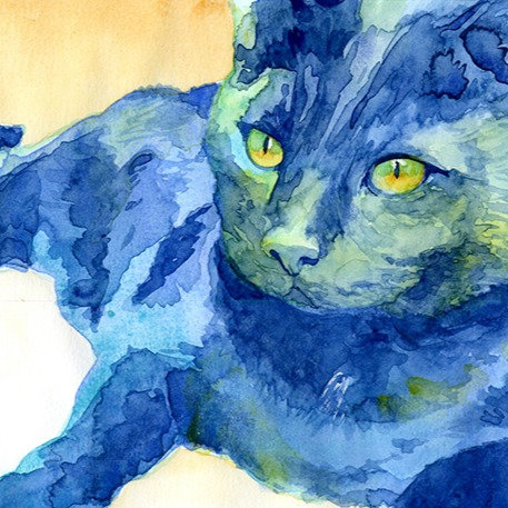 TECHNICOLOR, Custom Watercolor Pet Painting on Paper