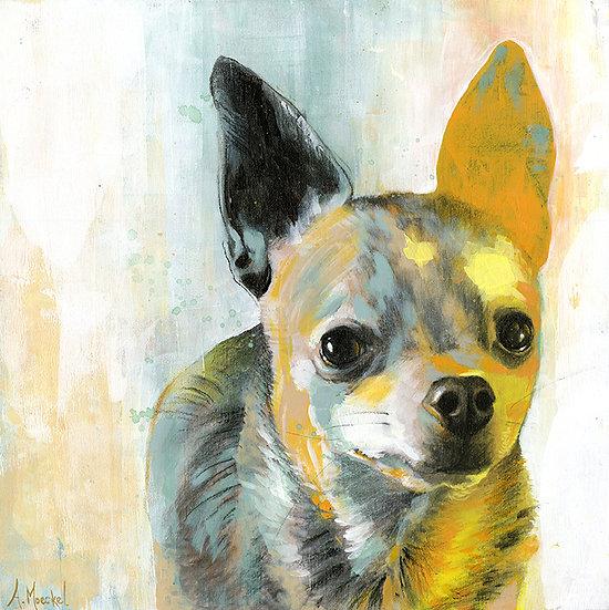 MIXED MEDIA, Custom Pet Painting/Drawing on Wood