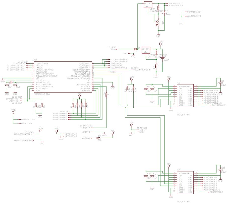 midi controller schematic