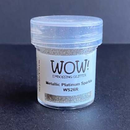 Embossing Powder - Metallic Platinum Sparkle