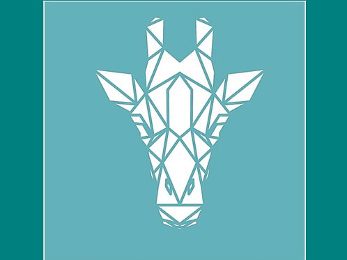 Geometric Giraffe Stencil by Funky Fossil