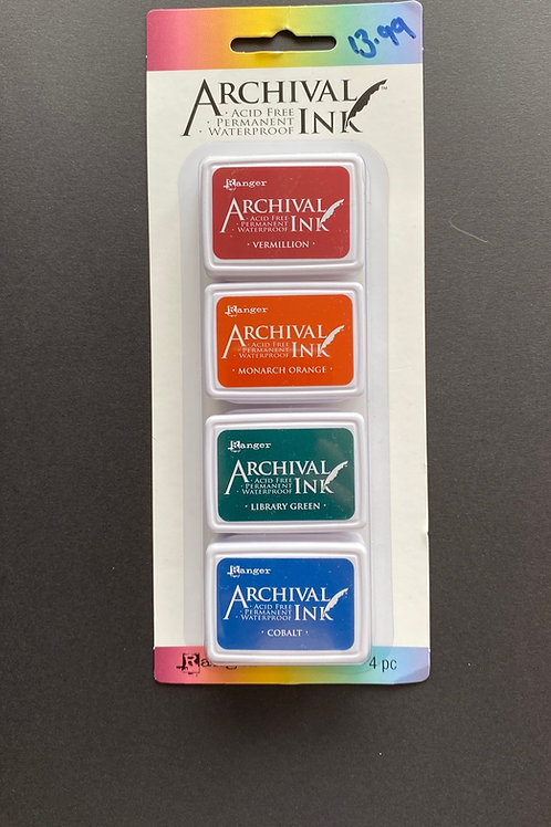 ARCHIVAL QUAD MINI INK PADS #1