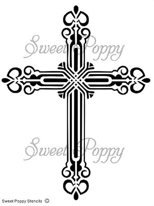 Cross Stencil by Sweet Poppy