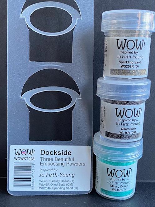 Trio Pack Embossing Powders - Dockside