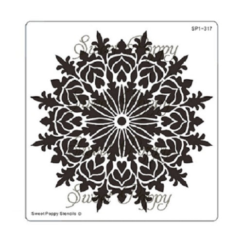 Heart Mandala Stencil by Sweet Poppy
