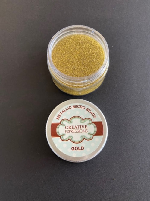 CREATIVE EXPRESSIONS MICRO BEADS  - GOLD