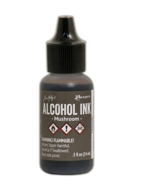 ALCOHOL INK - MUSHROOM