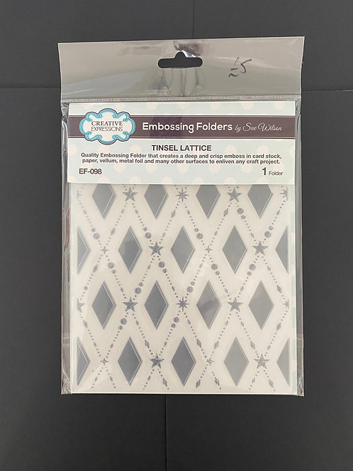 CREATIVE EXPRESSIONS EMBOSSING FOLDER - TINSEL LATTICE