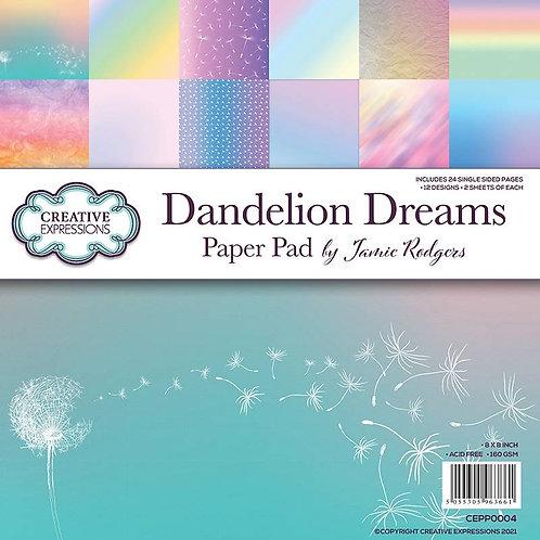 Dandelion Dreams 8 x 8 Paper Pad