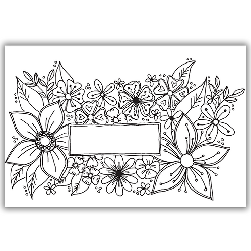 JULIE HICKEY BURSTING WITH FLOWERS STAMP SET