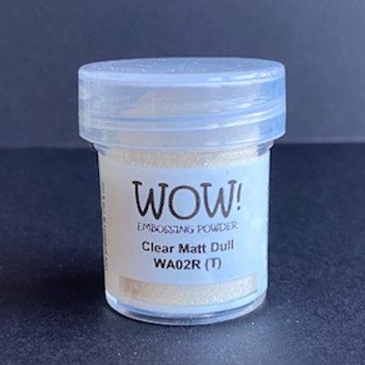 Embossing Powder - Clear Matt Dull