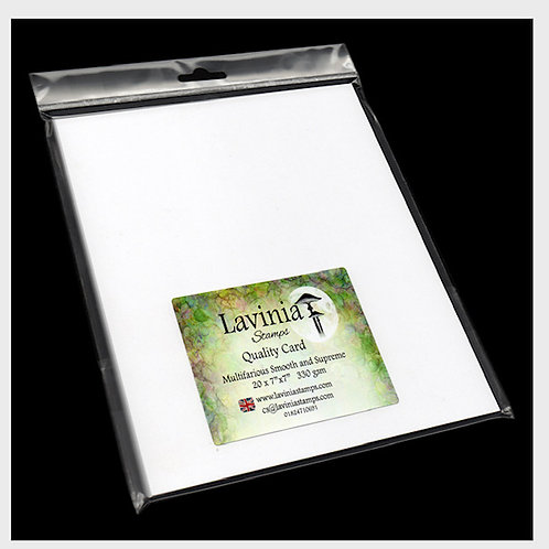 """7""""x 7"""" Multifarious Smooth Card x 20 Sheets by Lavinia"""