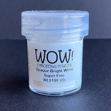 Embossing Powder - Opaque Bright White Super Fine