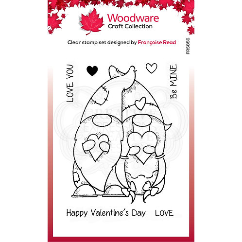 Valentine Gnomes Stamp by Woodware