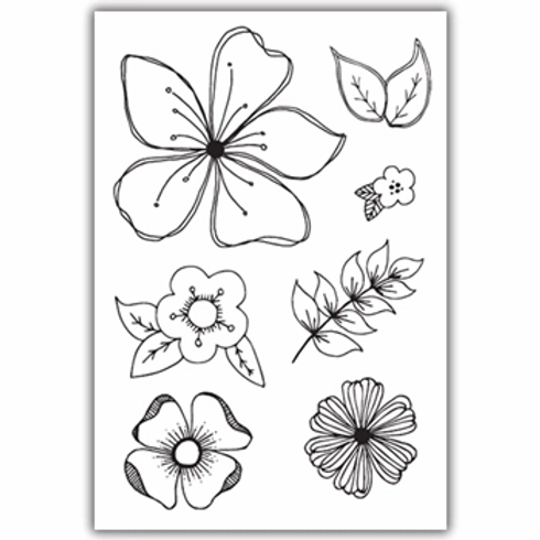 JULIE HICKEY FLORAL FANCIES STAMP SET