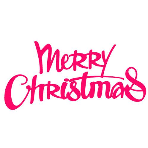 Merry Christmas Cutting Die - Presscut