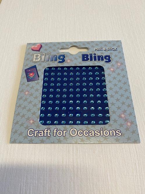 Blue 3 mm Self Adhesive Acrylic Gems -100 pack