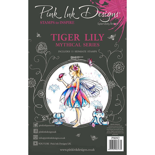 Tiger Lily Stamp Set by Pink Ink