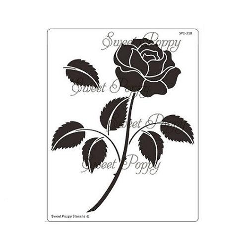Single Rose Stencil by Sweet Poppy